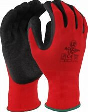 10 Pairs Waterproof Flex Grip Latex Glove Garden Builder Work Safety Gloves A174