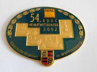 Vintage Germany Porsche 911 Automobile Grill Badge Porcelain Enamel Emblem Sign