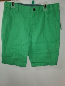 Wonder Nation Little Boys & Big Boys Flat Front Shorts, Green, Size 12 (R3)