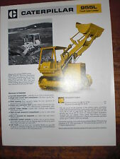 ORIGINALE prospetto SALES BROCHURE CAT Caterpillar 955l TRACK-TYPE Loader