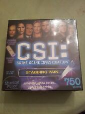 NEW CSI: Crime Scene Investigation  750 Piece Mystery Puzzle  Stabbing Pain