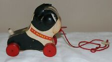 "1958 Vintage Fisher Price #462 ""Barky"" Wooden Moving Pull Toy"