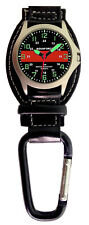 Aqua Force Red Line Firefighter Carabiner Watch (30m Water Resistant)
