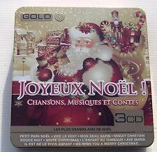 JOYEUX NOEL . chansons, musiques et contes . 3 CD METAL BOX NEUF