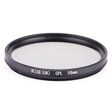 58mm CPL Polarizing Lens Filter for Canon Nikon Sony Pentax Sigma Olympus