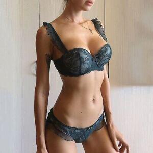 Women Sexy Bra Panties Set Lingerie Brassiere Push up Lace Embroidery Underwear