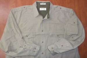 Orvis Sporting Traditions Safari Bush Cotton Button Front Ls Shirt 2XLT Tall
