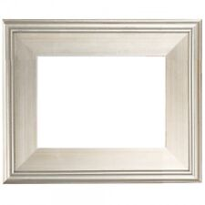 """9""""x12"""" CLASSIC MODERN Picture Painting Frame Plein Air Wood Silver 3"""" Wide 9x12"""""""
