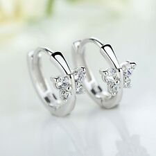 1 pair Fashion Elegant Jewelry Women Crystal Gold Butterfly Ear Stud Earrings