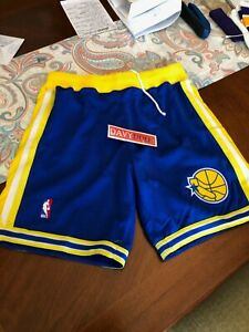 Mitchell & Ness NBA Golden State Warriors 1995-96 Authentic Shorts Sz L 44 BNWT