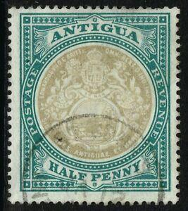 SG 31 ANTIGUA 1903 - HALFPENNY GREY-BLACK & GREY-GREEN - USED