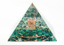HEALING CRYSTALS Orgonite Pyramid Quartz Malachite Orgone Energy Generator