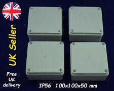 Cctv Caja de conexiones resistente a la intemperie Caja 100mm X 100mm X 50mm IP56 Gris Juego De 4