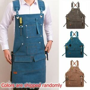 Waterproof Hair salon Apron Pocket Canvas Wood working Gardening Craft Apron