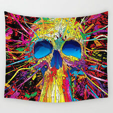 Skull Skeleton Psychedelic Hippy  Wall Hanging, Bedspread, Throw, Curtain.