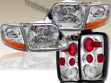 97-02 FORD EXPEDITION XLT EDDIE BAUER HEADLIGHTS &CORNER LIGHTS & TAIL LIGHTS