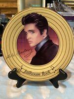 Elvis Presley Solid Gold Jailhouse Rock Collectors Plate Bradford Exchange
