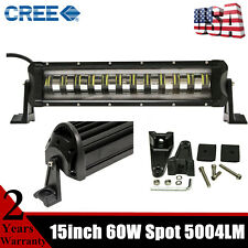 15inch 60W Flashing LED Light Bar Strobe Driving CREE Fog Lamp ATV SUV RZR 14 16
