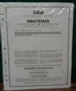 SCOTT US Minuteman 2020 stamp collection album pages supplement # 52  NEW Latest