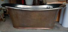 French copper bathtub ***very rare*** original state and patina