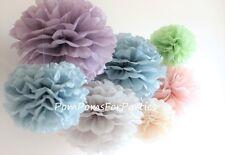 6 teiliges verschied Größen Seidenpapier Pompons