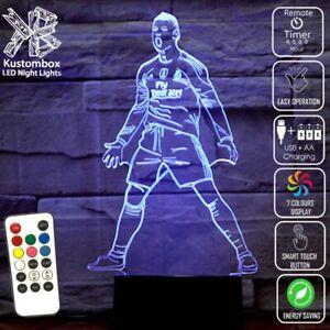 CRISTIANO RONALDO REAL MADRID 2014 -18 3D LED Night Light Lamp 7 Colour REMOTE