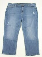 Simply Vera Wang Womens Jeans Size 22W Capri Blue Denim  25 Inseam