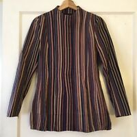DRIES VAN NOTEN Striped Jacket Retail $875 Made in Belgium Size 38 or US Small