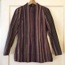 $875 DRIES VAN NOTEN Striped Jacket Women's Size 38 Made in Belgium