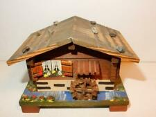 Vintage Cuendet Swiss Movement Music Wood Jewelry Box House Dr Zhivago