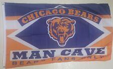 New listing Chicago Bears Football 3x5 Flag Banner Man Cave Gift Free Shipping