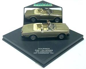 "VITESSE VCC99032 FIAT 124 SPIDER ""50TH ANNIVERSARY"" 1981 MODEL CAR 1:43 SCALE"