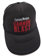 CAPTAIN MORGAN CANON BLAST SPICED RUM trucker style black adjustable cap / hat