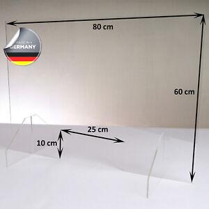 Hochwertiger Spuckschutz aus Acrylglas   Ideal für Verkaufs-/ und Empfangstresen