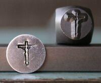 SUPPLY GUY 8mm Jesus Cross Metal Punch Design Stamp SGCH-102