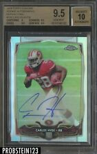 2014 Topps Chrome Refractor Carlos Hyde RC Rookie /150 BGS 9.5 w/ 10 AUTO