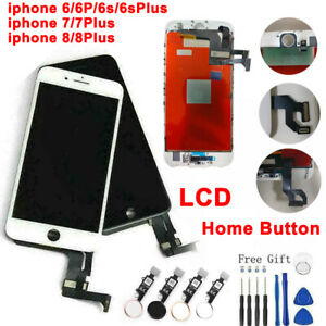 For iPhone 6 6s 7 8 Plus LCD Display Touch Screen Replacement Home button