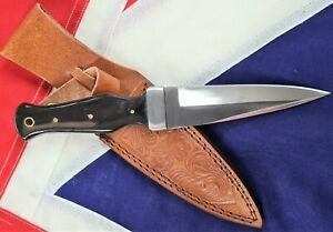 23cm Celtic knife Scottish Dirk Sgian Dubh Dagger Black Horn Handle