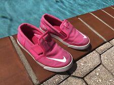 Nike Toki slip on canvas hot pink 10c girls kids