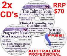 2x CD STRESS ANXIETY DEPRESSION CLINICAL HYPNOTHERAPY HYPNOSIS