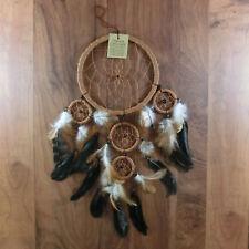Traumfänger Dreamcatcher Traum Träume träumen Federn Indianer Perlen braun 16cm
