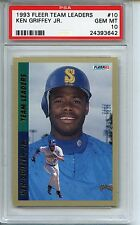 1993 Fleer Team Leaders #10 Ken Griffey Jr. PSA 10