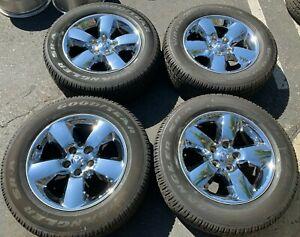 2019 Dodge Ram 1500 Factory 20 Chrome Clad Wheels Tires Rims OEM 2495C