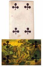 CARTE A JOUER transparente EROTIQUE vers 1860 / jouet optique hidden / 140