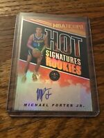 2018-19 Hoops Michael Porter Jr. Hot Signature Rookies Autograph Nuggets Auto