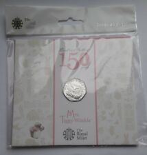 UK Royal Mint 2016 Beatrix Potter Mrs Tiggy-Winkle 50p Fifty Pence Coin Pack BU