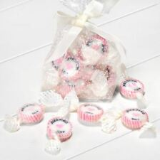 NEW PINK & WHITE WEDDING DAY ROCK SWEETS STRAWBERRIES & CREAM WEDDING FAVOUR