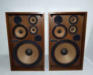 Vintage Pair of Kenwood KL-5090 Speakers 3-Way 4 Driver