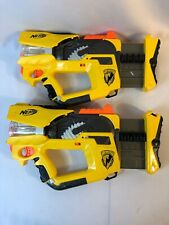 NERF Firefly Rev-8 N-Strike Blaster Dart Toy Guns Light Up *Lot Of 2*