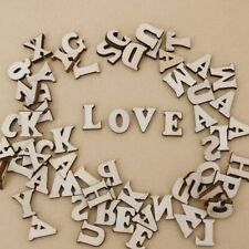 Cute 100 Pcs Mixed English Wooden Letter&Alphabet Natural Wood Party Decoration